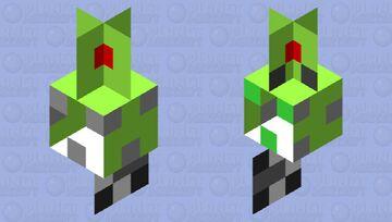 Green Squid Jig Minecraft Mob Skin