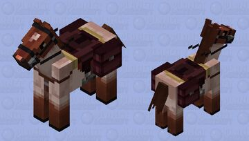 Red roan Minecraft Mob Skin