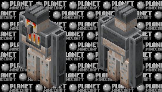 furnace golem (minecraft earth) Minecraft Skin