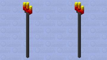 tiki torch v.2 Minecraft Mob Skin