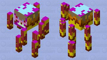 Rotten Blaze Minecraft Mob Skin