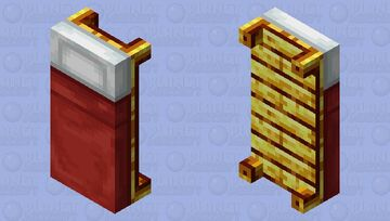 Gold wood bed Minecraft Mob Skin