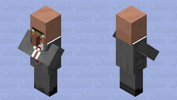 1920s/30s Suit Villager (Colored, No Hat) Minecraft Mob Skin