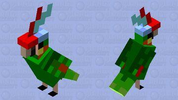 My Beautiful Parrot Rainbow! Minecraft Mob Skin
