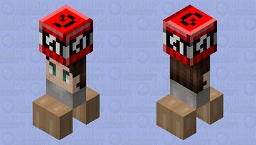 HE HAS TNT RUN! Minecraft Mob Skin