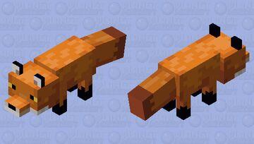Realistic Fox Minecraft Mob Skin