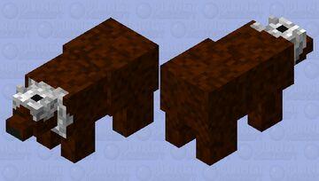 Cold Brown Bear Minecraft Mob Skin