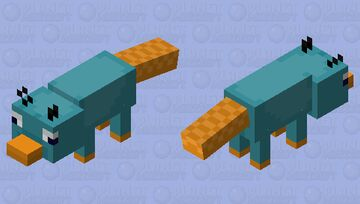Perry The Platypus Fox Minecraft Mob Skin