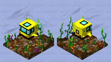 Yellow submarine Minecraft Mob Skin