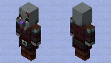 Battle Damage Pillager Minecraft Mob Skin