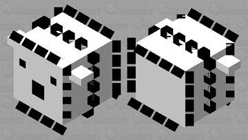 Black & white pufferfish (large) Minecraft Mob Skin