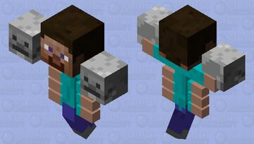 Wither Steve Minecraft Mob Skin