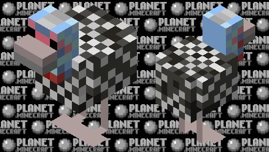 Helmeted Guinea Fowl Minecraft Skin
