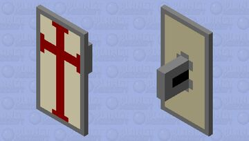 Crusader/Templar Shield Minecraft Mob Skin