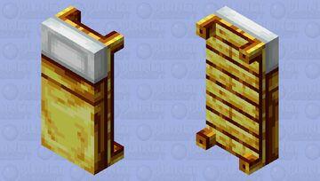 Gold wood & blanket bed Minecraft Mob Skin