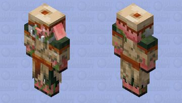 Zombified Piglin in desert clothing Minecraft Mob Skin