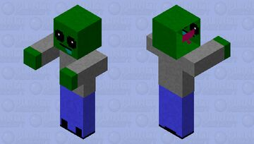Real Zombie. Minecraft Mob Skin