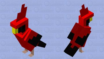 Red Cardinal Minecraft Mob Skin