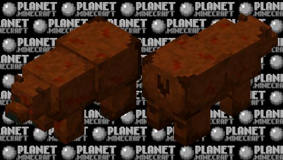Hurt brown bear Minecraft Skin