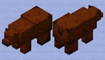 Hurt brown bear Minecraft Mob Skin