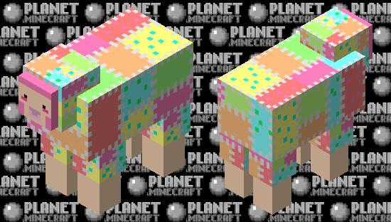 Cute Patchwork Sheep Minecraft Skin