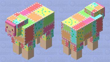 Cute Patchwork Sheep Minecraft Mob Skin