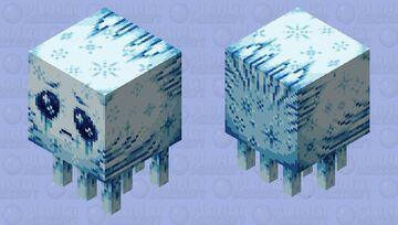 Frostbitten Blueberry Ghast Minecraft Mob Skin