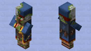 Neutral Zombified Wandering Trader Minecraft Mob Skin