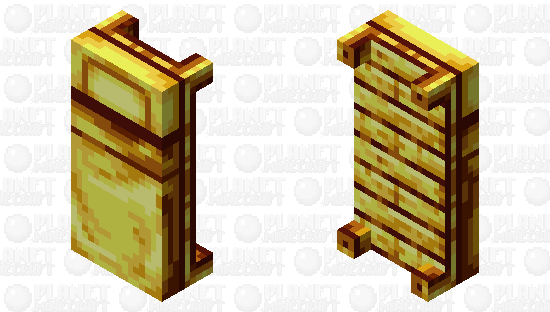 All gold bed Minecraft Skin
