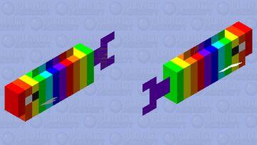 Rainbow Cod Minecraft Mob Skin