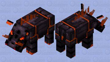 Obsidian Hoglin Minecraft Mob Skin