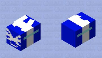 Cobalt bee without 3d wings (Credit for the idea given to Temmie_Undertale) Minecraft Mob Skin