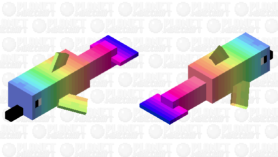 Rainbow Ombre Dolphin Minecraft Skin