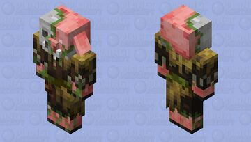 Zombified Piglin in jungle clothing Minecraft Mob Skin