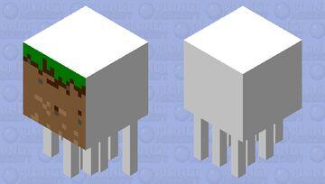 Plastic Grass Block (Used Ghast Skin Maker) Minecraft Mob Skin