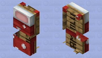 Dotted Bed With Colored Pillow (updated for 1.15.2+) Minecraft Mob Skin