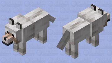 Wide-Eyed Wolf Minecraft Mob Skin