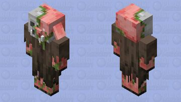 Zombified Piglin in plains clothing Minecraft Mob Skin