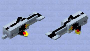 Rocket dolphin Minecraft Mob Skin