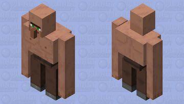 Ripped Villager Iron Golem Minecraft Mob Skin