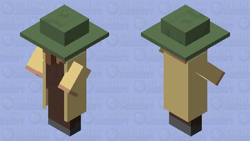Casual villager Minecraft Mob Skin