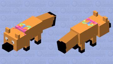 Cute Kawaii Fox With A Rainbow Bow!! Minecraft Mob Skin