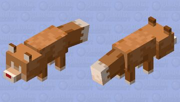 Gingerbread Fox Minecraft Mob Skin
