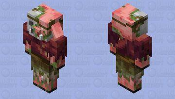 Zombified Piglin in savanna clothing Minecraft Mob Skin