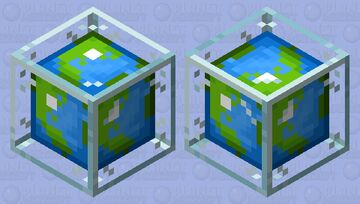 Planet Minecraft in a block of glass Minecraft Mob Skin