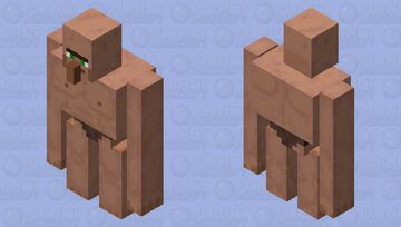 Ripped Villager Iron Golem - Extra Thicc Edition Minecraft Mob Skin