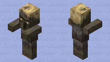 Zombie villager husk by ALEXYSSSJ4 (off clothes) Minecraft Mob Skin