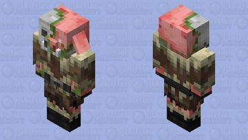 Zombified Piglin in taiga clothing Minecraft Mob Skin