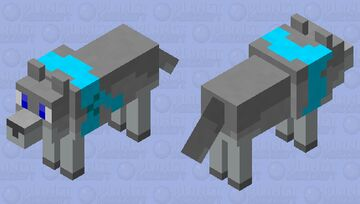 A Wolf with a Scarf (gift, Popular Reel) Minecraft Mob Skin