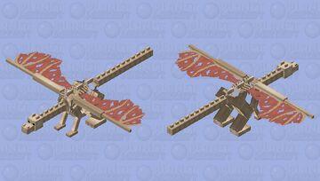 Skeletal Dragon Minecraft Mob Skin